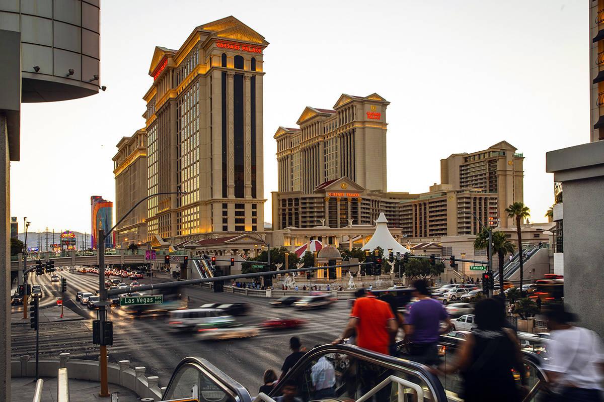 A Sunday, June 23, 2019, photo shows Caesars Palace in Las Vegas. (L.E. Baskow/Las Vegas Review ...