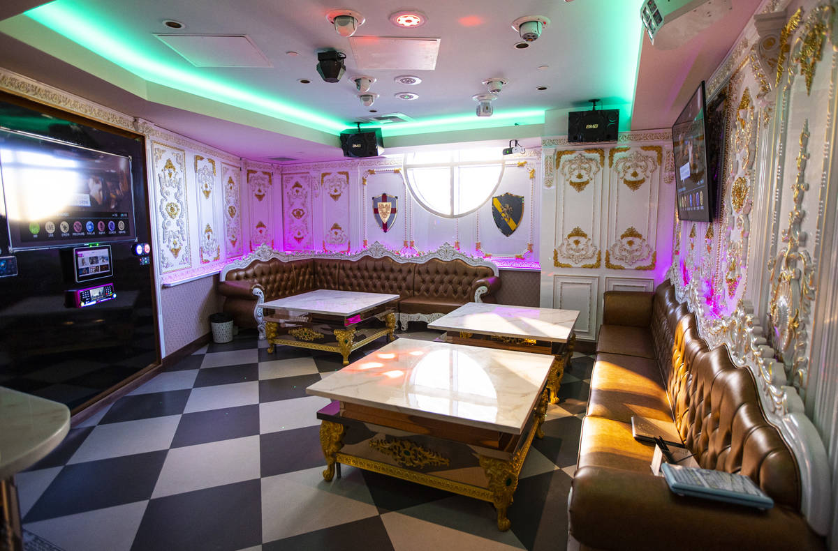 A room at Kamu Karaoke at the Grand Canal Shoppes at The Venetian in Las Vegas on Thursday, Jul ...