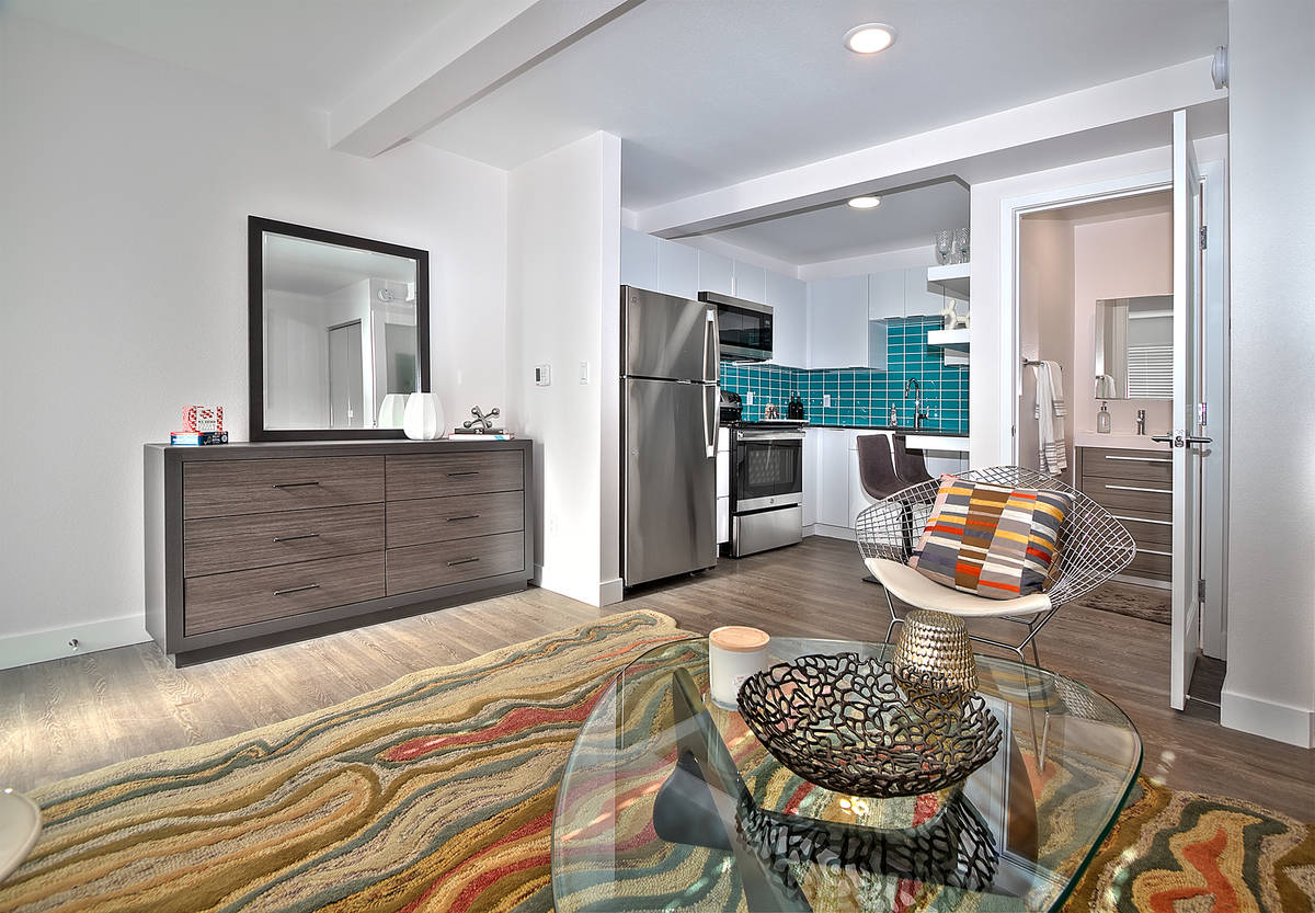 Downtown Las Vegas apartment complex, Stax Studios, offers units measuring from 285 square feet ...