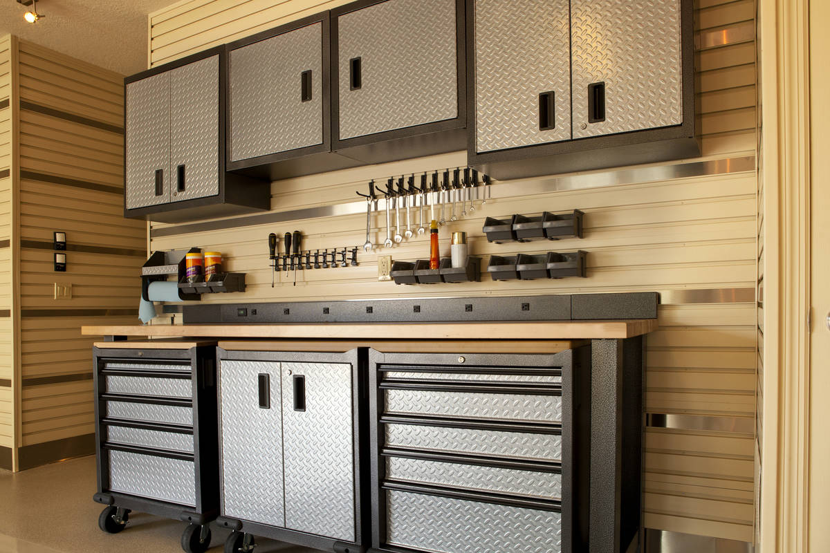 Cabinets add a touch of class to your garage along with additional storage space. (Getty Images)