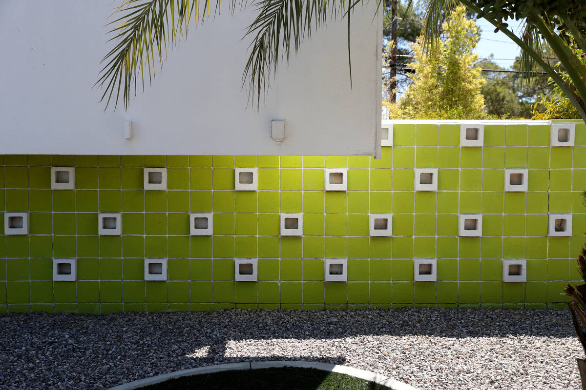 A decorative wall at a home at 3328 Seneca Drive in the Paradise Palms neighborhood in Las Vega ...