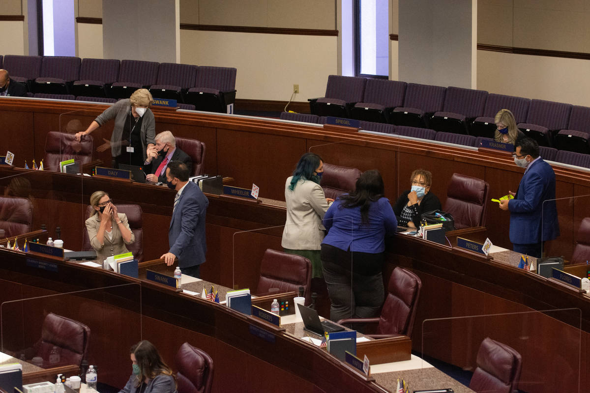 Members of the Assembly on Saturday, Aug. 1, 2020 during the second day of the 32nd Special Ses ...