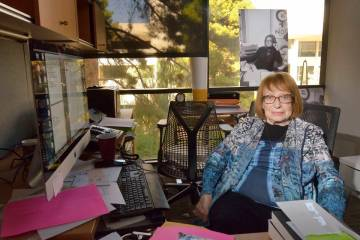 English professor Felicia Campbell is shown in her office in the Beverly Rogers Literature and ...