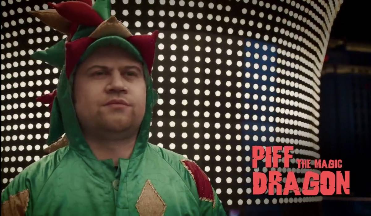 """Piff the Magic Dragon is shown in a screen-grab in a promotional video for the TBS series """"Tour ..."""