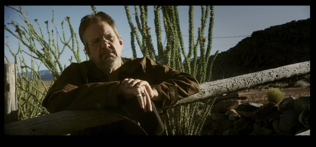 """Penn Jillette is shown in a scene from an action-thriller in Piff the Magic Dragon's """"Tournamen ..."""