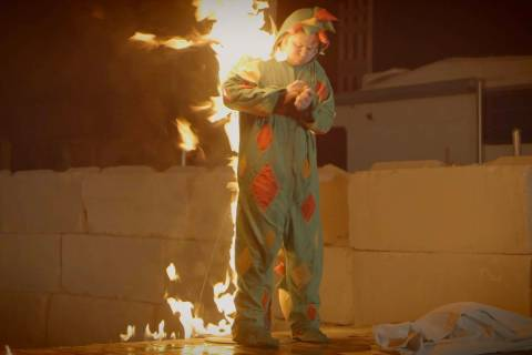 "Piff the Magic Dragon works with a lock to escape a flaming stake in his winning ""Tournament of ..."