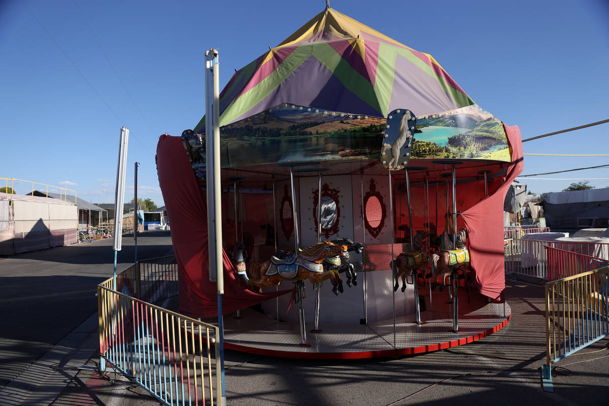 Carnival rides remain closed during the coronavirus pandemic at Broadacres Marketplace in North ...