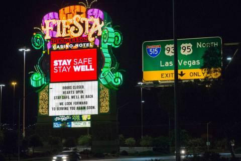 Fiesta hotel-casino photographed on Monday, May 18, 2020, in Henderson. (Bizuayehu Tesfaye/Las ...