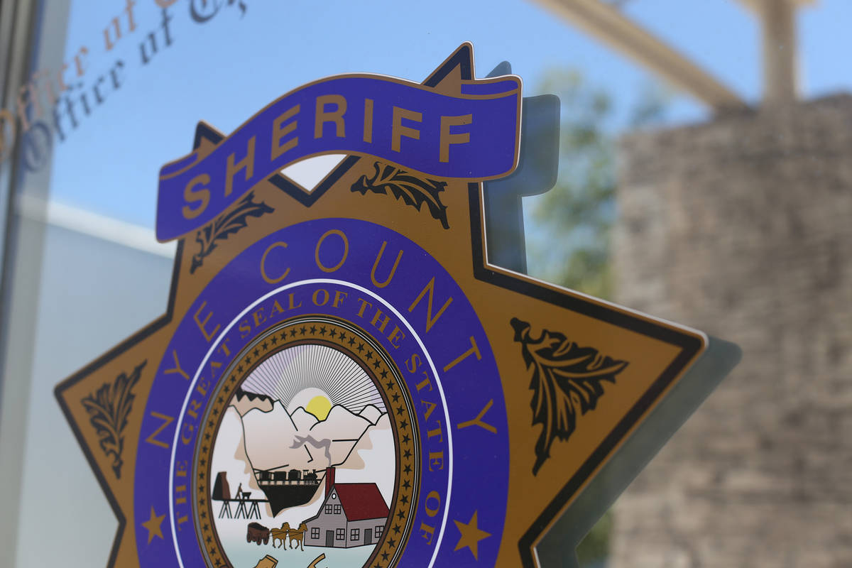 The Nye County Sheriff's office Wednesday, July 10, 2019.(Rachel Aston/Las Vegas Review-Journal ...