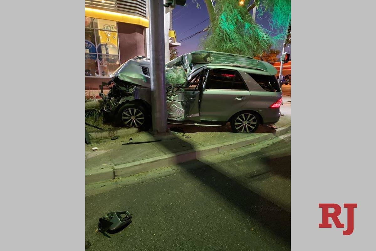 An SUV struck two pedestrians near Maryland Parkway and Katie Avenue about 7 p.m. Monday, Aug. ...