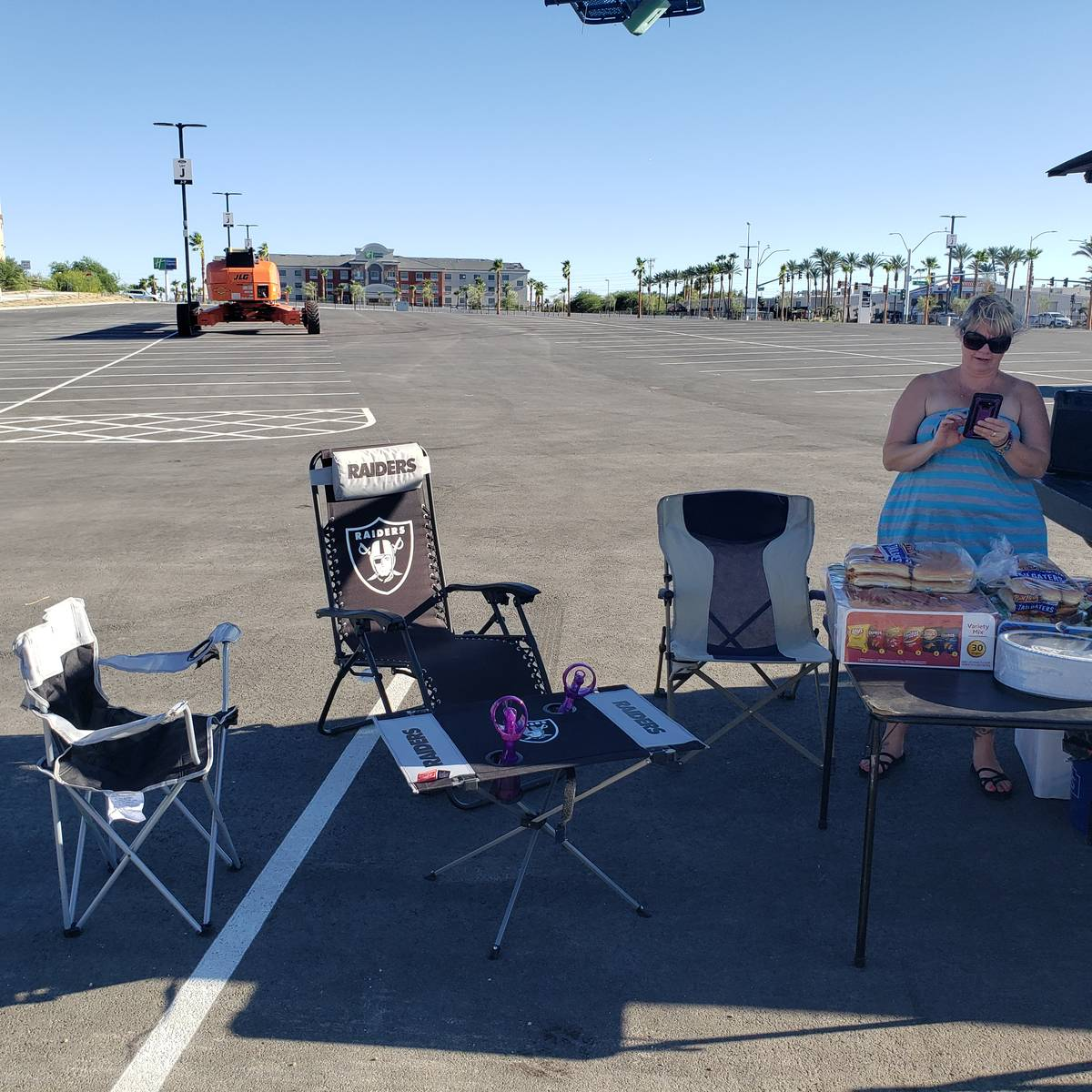 Tonie Silva and her husband Anthony Silva held the first tailgate at the recently completed All ...