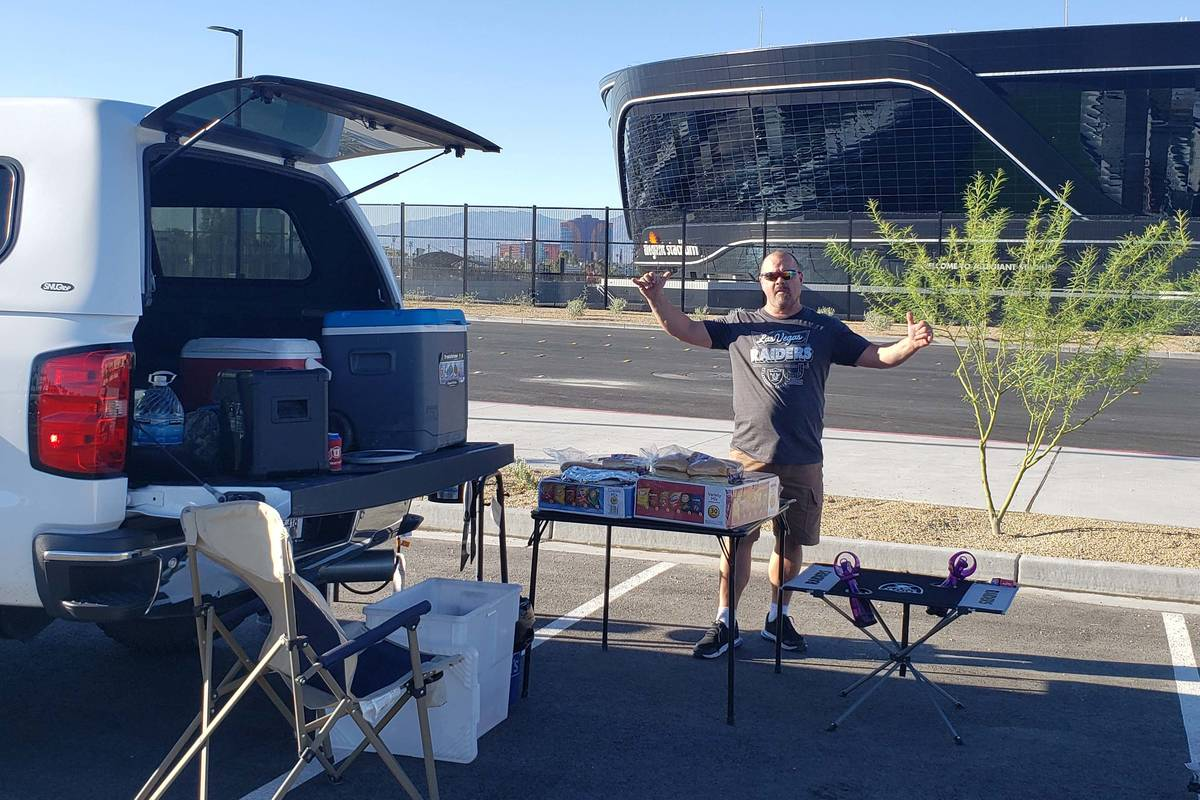 Anthony Silva and his wife Tonie Silva held the first tailgate at the recently completed Allegi ...