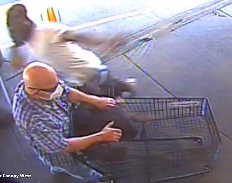 This image provided by Metropolitan Police Department shows an unidentified male attacks a disa ...