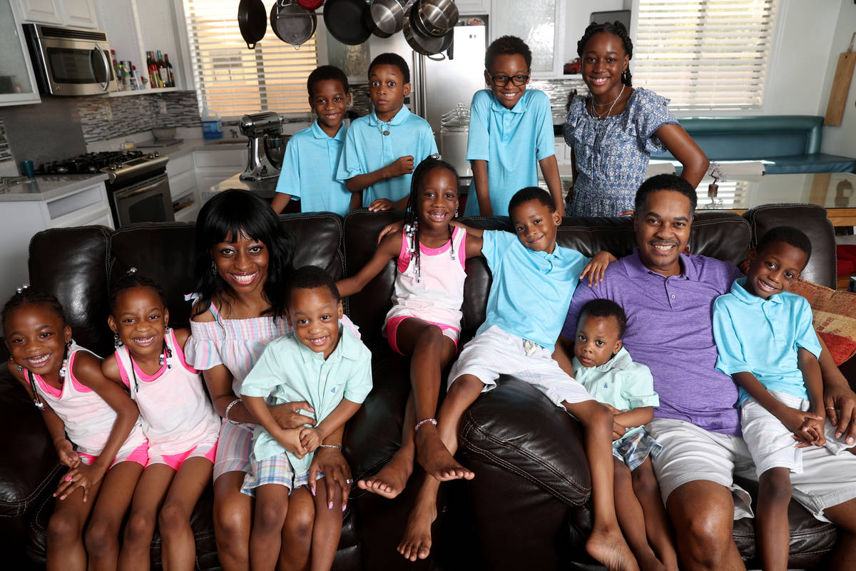 Derrico Family Of North Las Vegas Has 14 Children Tlc Reality Show Las Vegas Review Journal