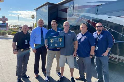 The executive board of the Las Vegas Police Protective Association was at Findlay RV to thank t ...