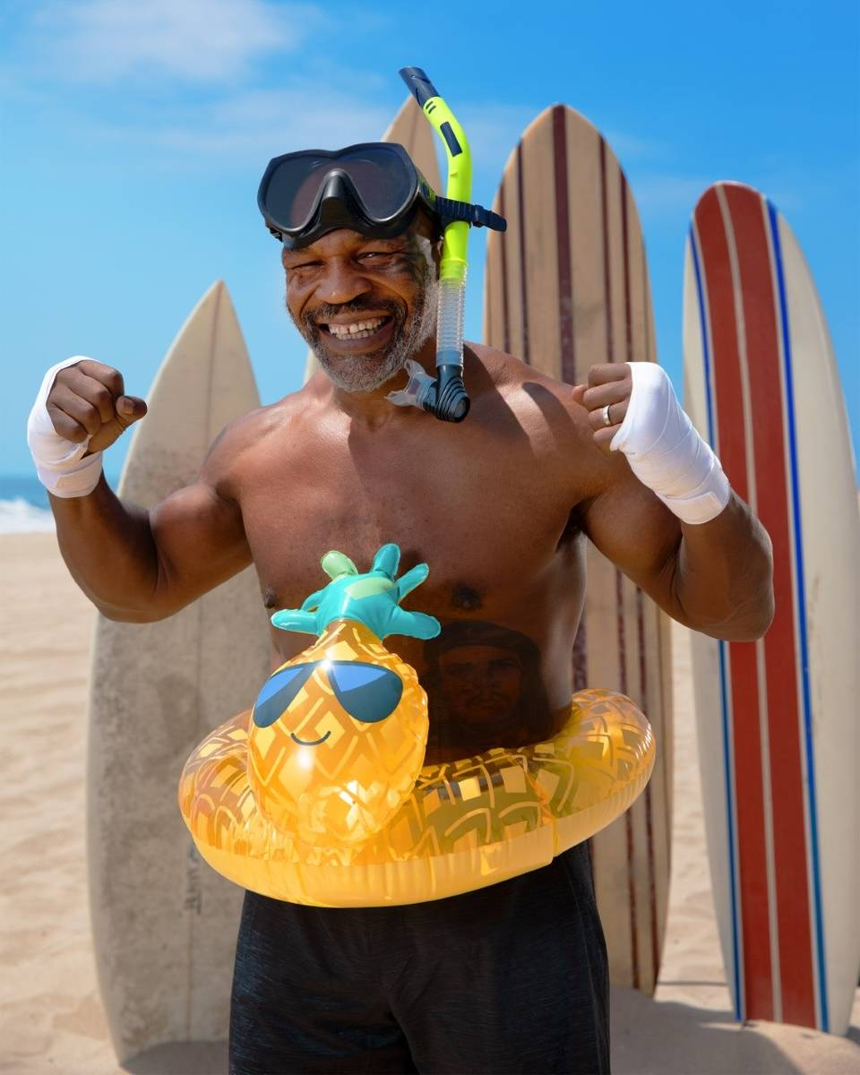 "Mike Tyson stars in ""Tyson vs. Jaws: Rumble on the Reef."" (Jason Elias/Discovery Channel)"
