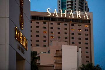 This July 21, 2020, file photo shows the Sahara Las Vegas. (Chase Stevens/Las Vegas Review-Jour ...
