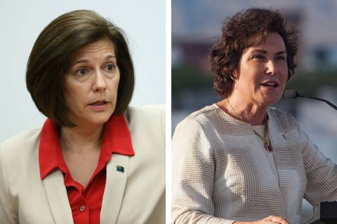 Sen. Catherine Cortez Masto, D-Nev., left, and Sen. Jacky Rosen, D-Nev. (Las Vegas Review-Journal)