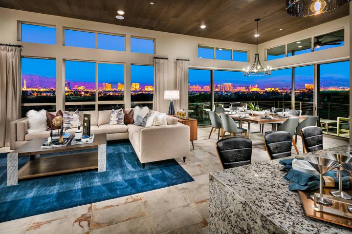 One of two actively selling age-qualified communities in Summerlin, Trilogy by Shea Homes offe ...