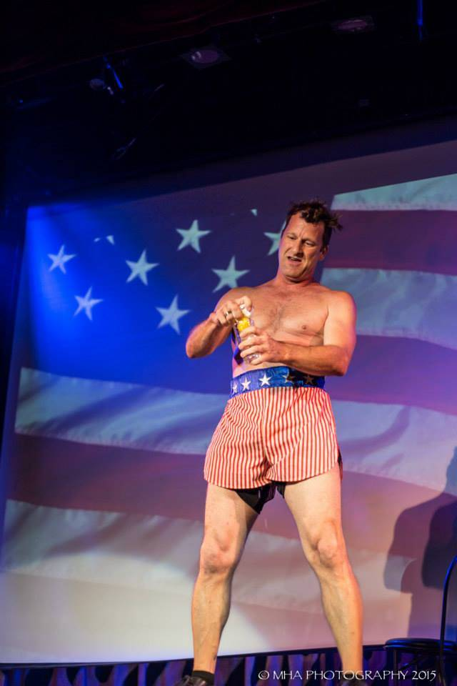 "Joe Trammel, in his role as Rocky Balboa in ""Comedy & Dolls"" at Planet Hollywood. (Review-Journ ..."