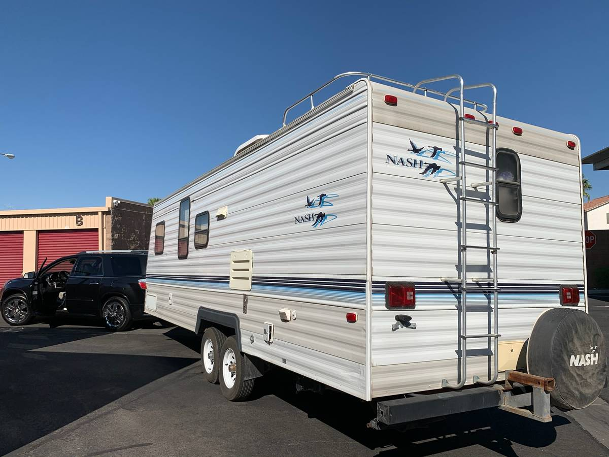 The 1999 Nash 27-foot travel trailer, which went missing from the home of Joe and Jessica Tramm ...