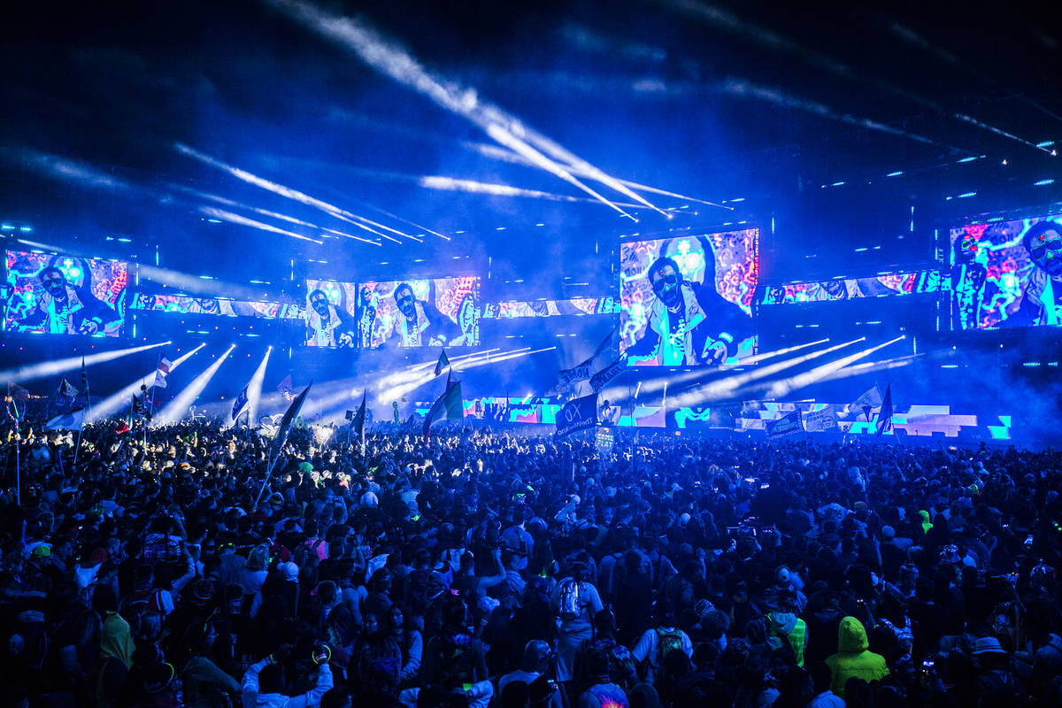 Over 450,000 fans are expected at EDC 2021. (Benjamin Hager/Las Vegas Review-Journal) @benjamin ...
