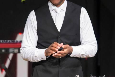 Former NFL Pro Bowl quarterback and Remnant Ministries Pastor Randall Cunningham delivers a ser ...