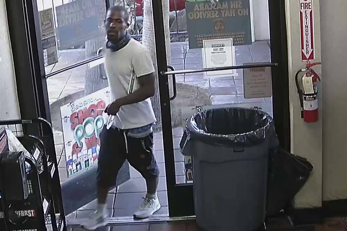 Las Vegas police released high-quality photos of a man wanted in an unprovoked attack on a seni ...