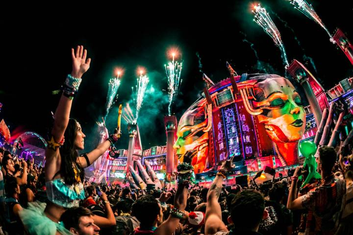 The Electric Daisy Carnival is expected to draw over 450,000 fans in 2021. (Christopher Pearce/ ...