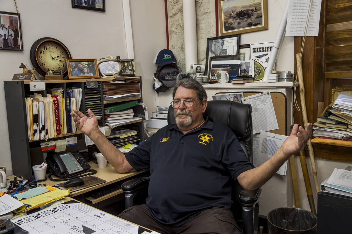 Esmeralda County Sheriff Ken Elgan continues to work hard with his team to keep residents safe ...