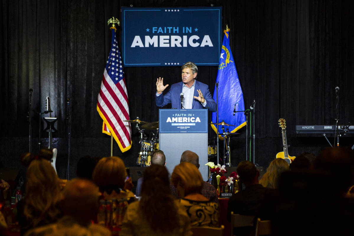 """Pastor Jack Hibbs, of Calvary Chapel Chino Hills, speaks during an """"Evangelicals for Trump ..."""