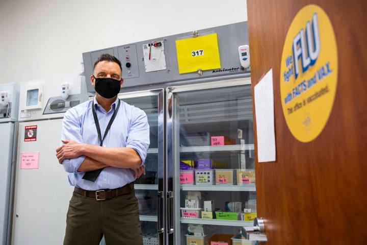 Dr. Cortland Lohff, acting chief medical officer at the Southern Nevada Health District, poses ...