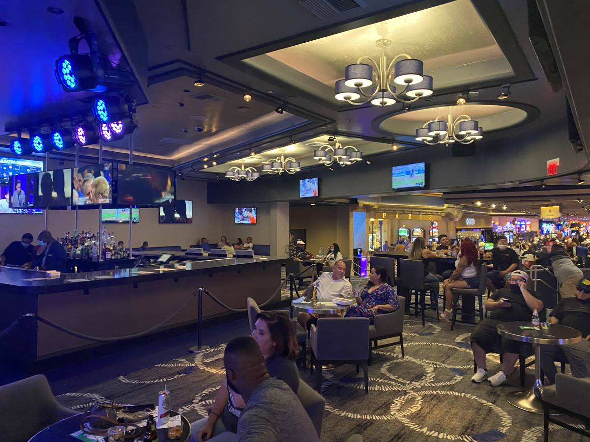 A look at the seating at Indigo lounge on Saturday, Aug. 9, 2020. (John Katsilometes/Las Vegas ...