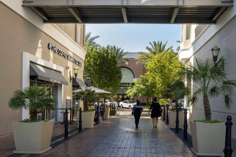 Shoppers arrive at The District at Green Valley Ranch on Friday, August 7, 2020, in Henderson. ...