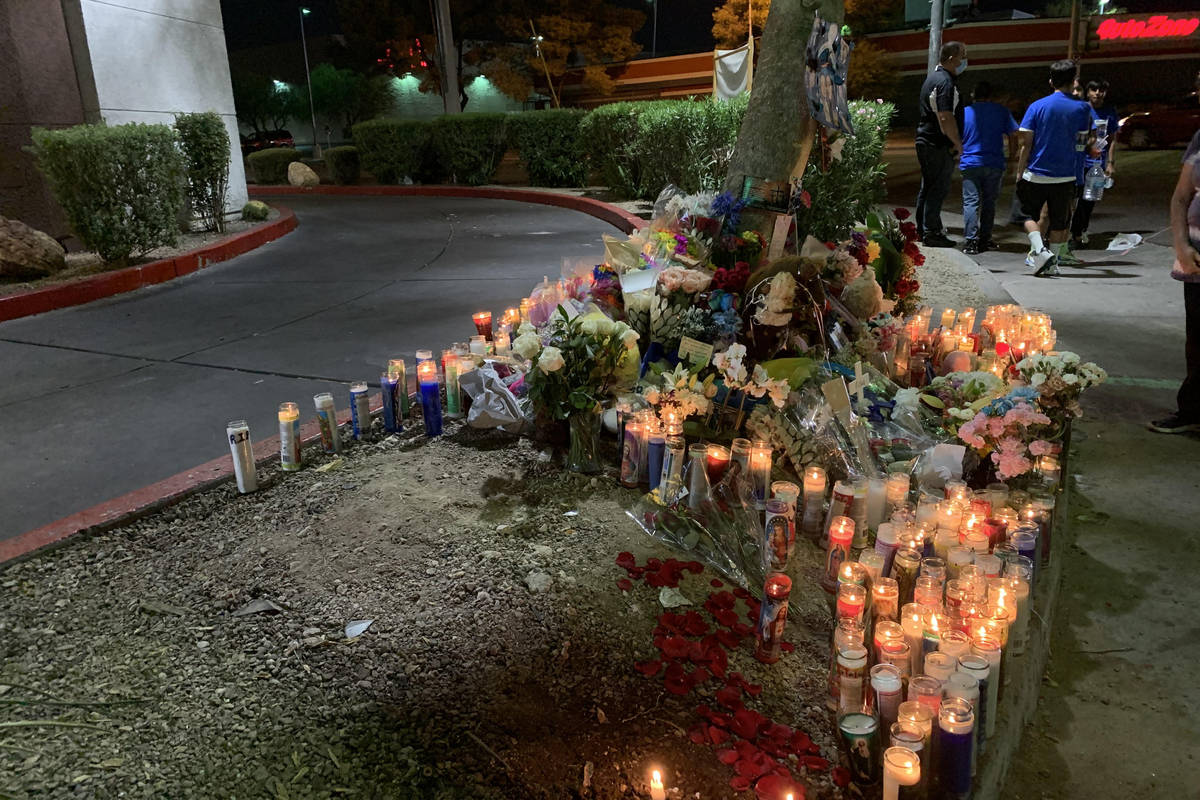 The smell of candles was clear from a block away during the vigil Friday night for Nelly Amaya- ...