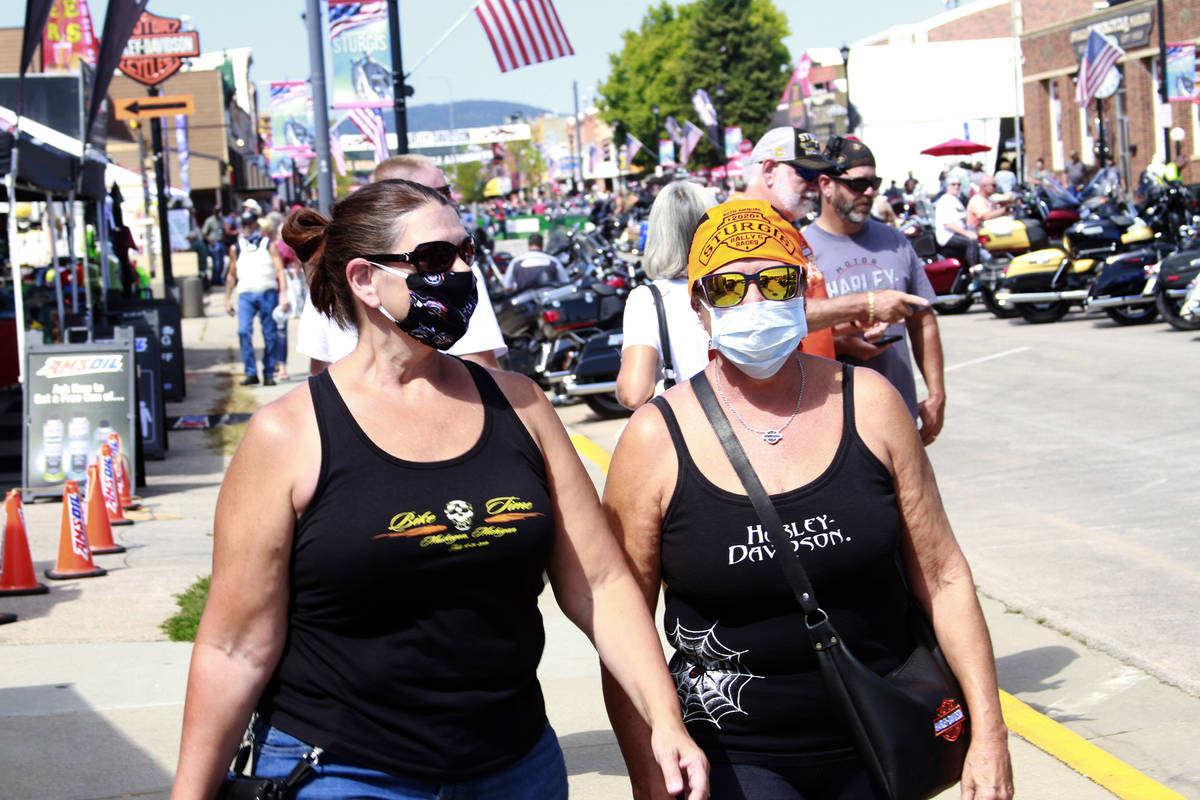 Thousands of bikers rode through the streets for the opening day of the 80th annual Sturgis Mot ...