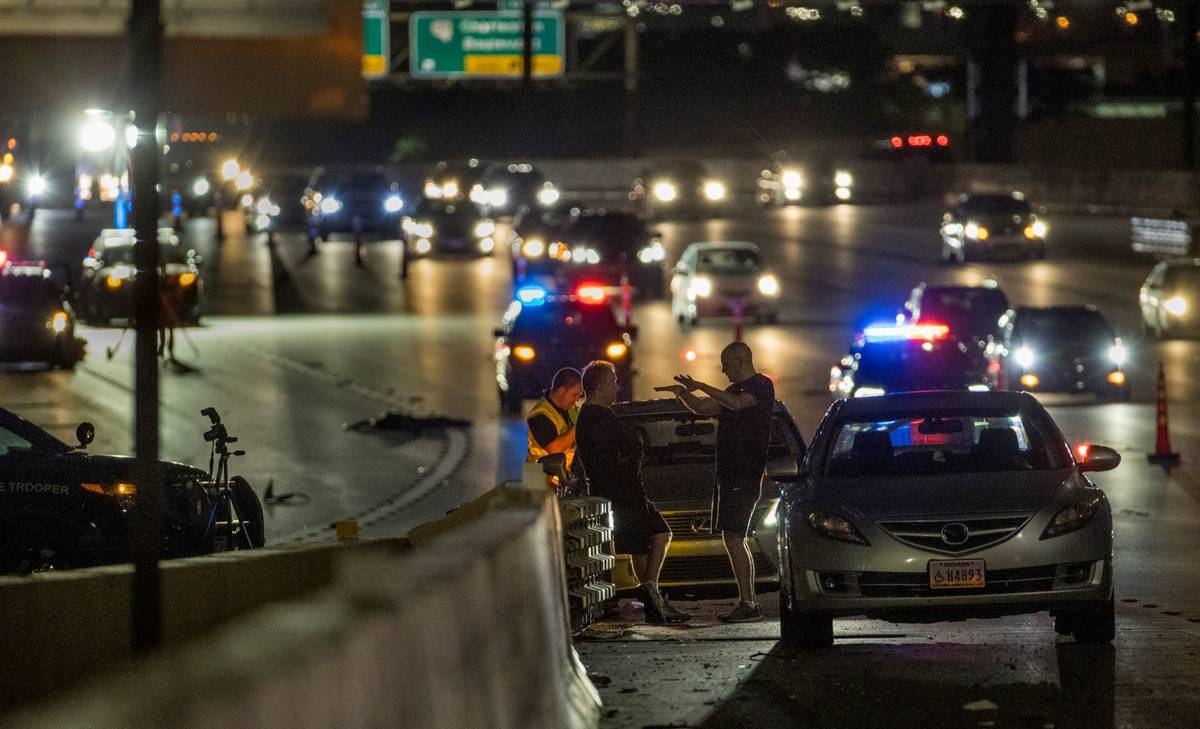 People involved in a vehicle versus pedestrian fatal on northbound I-15 at the Martin Luther Ki ...