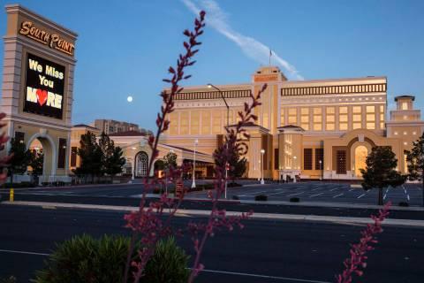 South Point hotel-casino photographed on Friday, May 8, 2020, in Las Vegas. (Bizuayehu Tesfaye/ ...