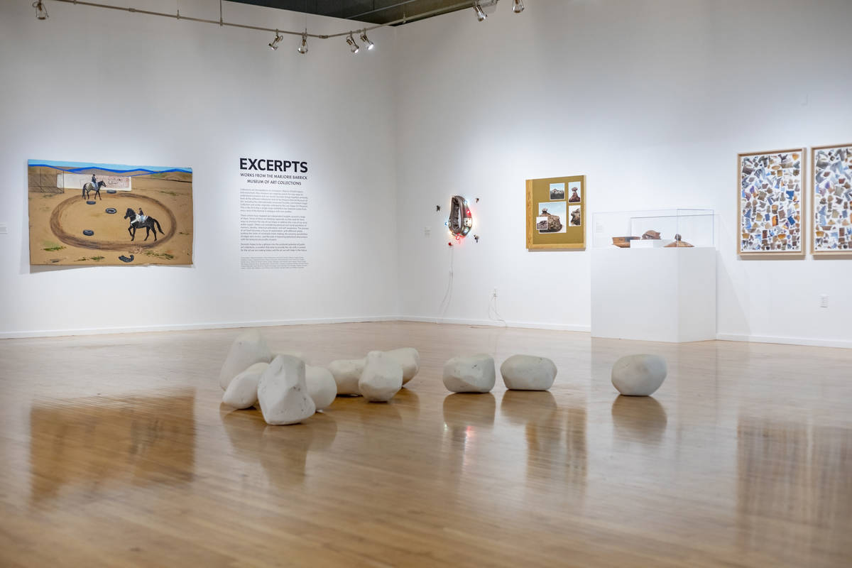 "Collections from the exhibit ""Excerpts"" are seen at UNLV's Marjorie Barrick Museum in Las Vegas ..."