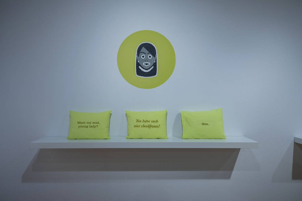 "Ashley Hairston Doughty's exhibit ""Kept to Myself"" uses art and text to lead viewers in her exp ..."