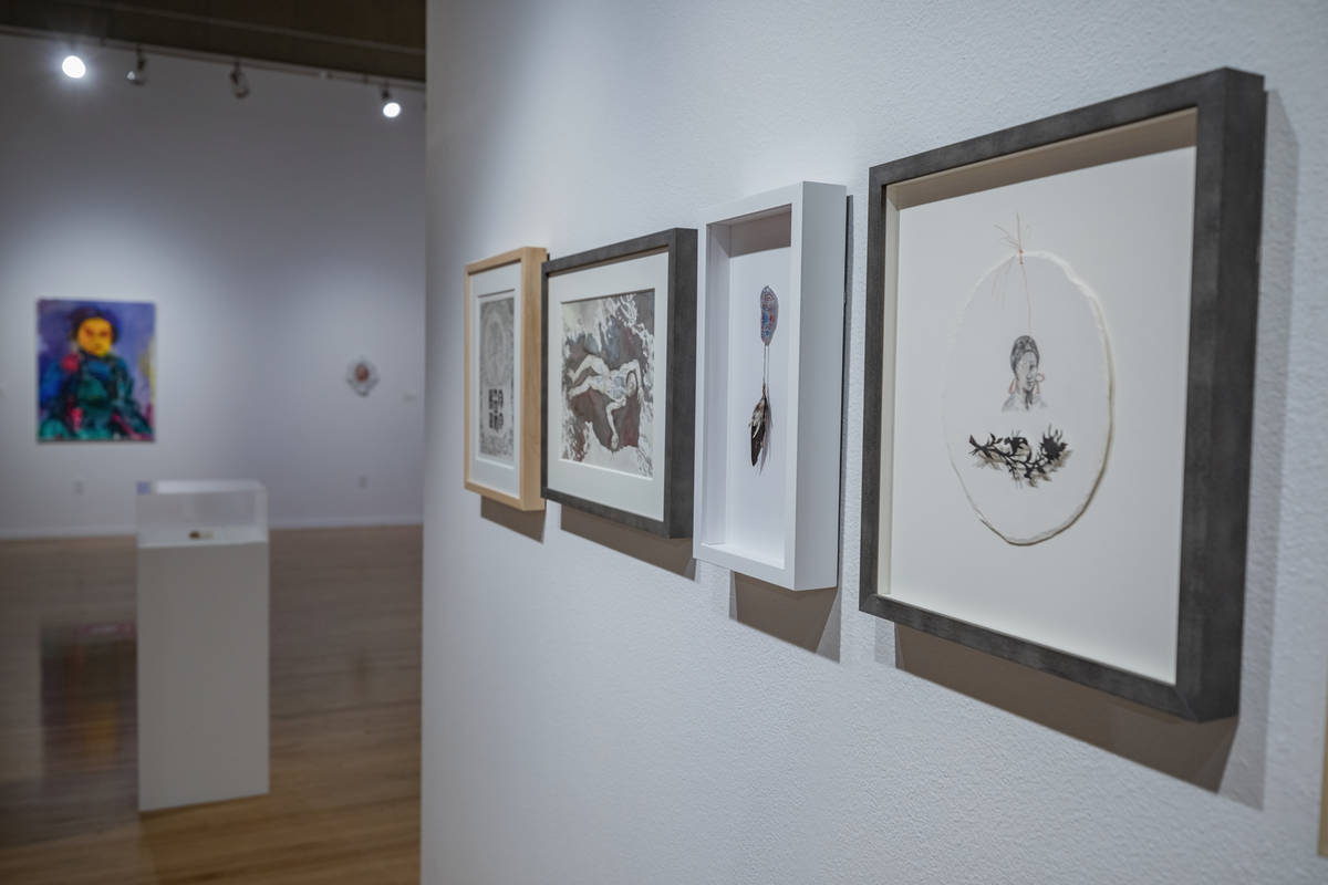 "Pieces from Candice Lin are featured in the exhibit ""Excerpts"" at UNLV's Marjorie Barrick Museu ..."