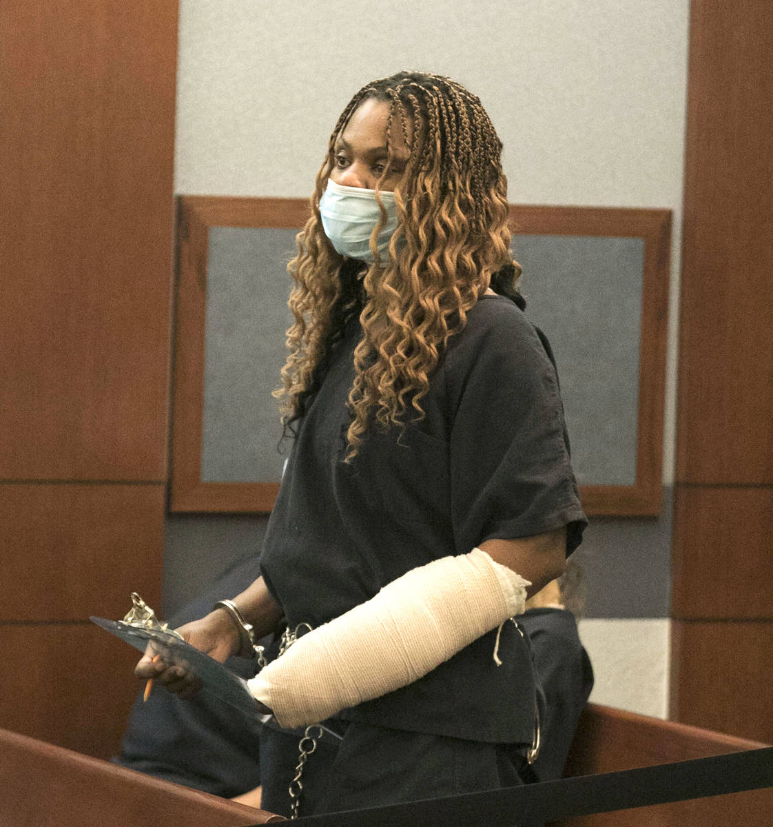 Ebone Whitaker, charged with DUI in crash that left two teens dead, appears in court at the Reg ...