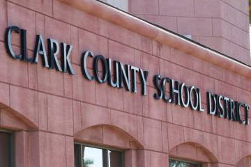 Clark County School District administration building located at 5100 West Sahara Ave. in Las Ve ...