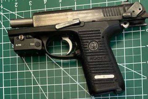 This firearm was caught by TSA officers at the Ronald Reagan Washington National Airport checkp ...