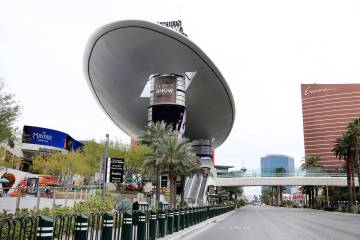 Fashion Show mall in Las Vegas is seen on Wednesday, March 18, 2020. (Elizabeth Page Brumley/L ...