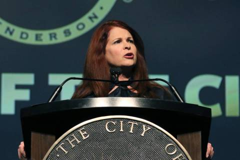Henderson Mayor Debra March (Bizuayehu Tesfaye/Las Vegas Review-Journal) @bizutesfaye