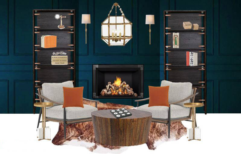 Kerrie Kelly, founder of Kerrie Kelly Design Lab, created a modern office and library for the L ...