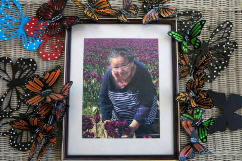 A photograph of Maria Urrabazo is displayed at her son Isaias' North Las Vegas home on W ...