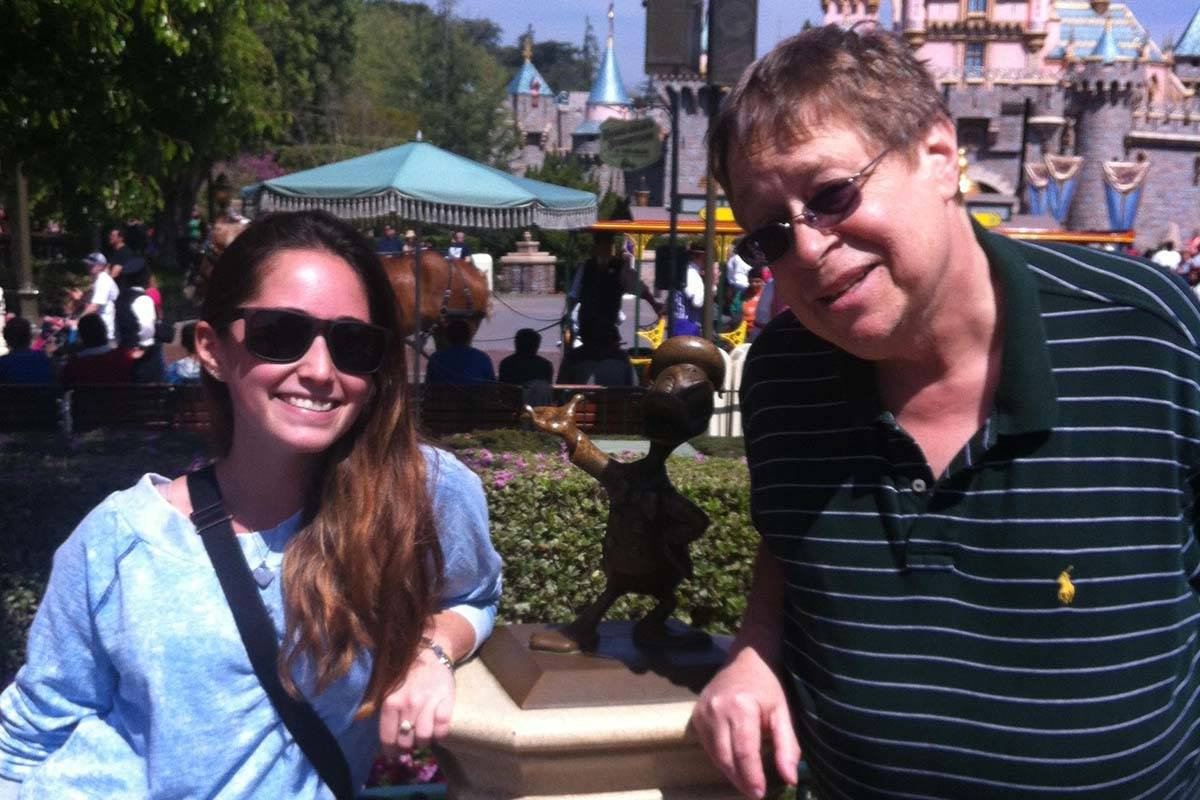 Daniel Scully is shown with his niece Keri Greenspan at Disney World in 2013. Scully, 69, was t ...