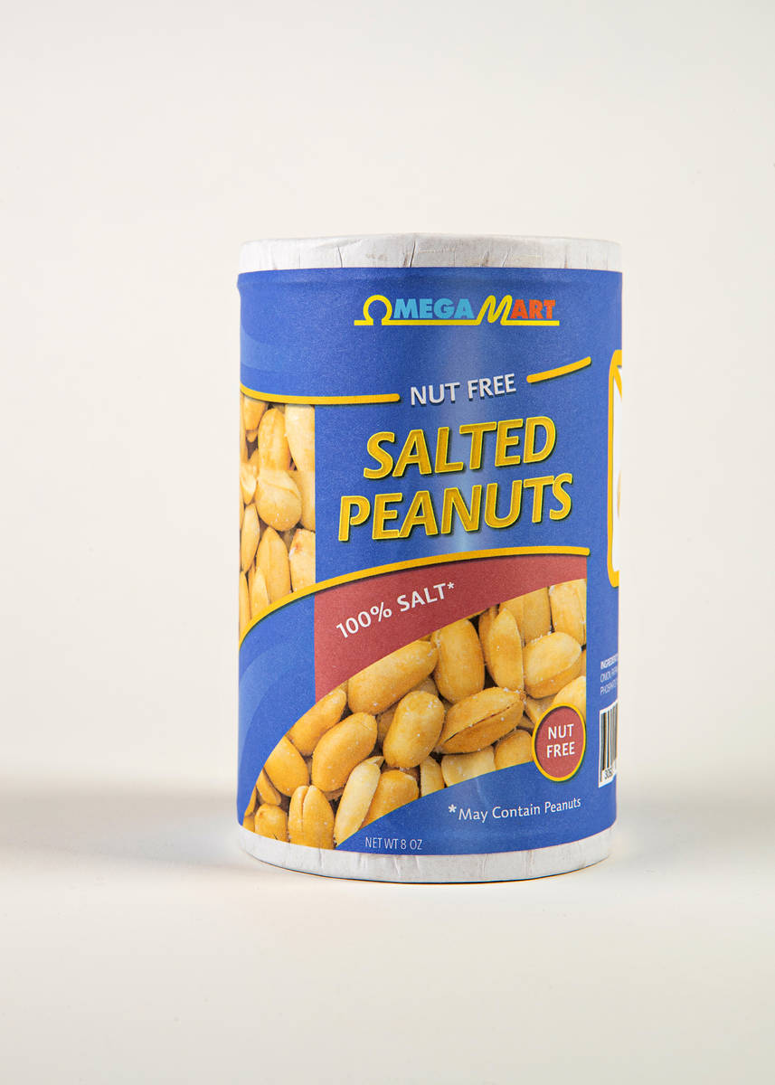 Omega Mart Products, Nut Free Salted Peanuts. (Meow Wolf)